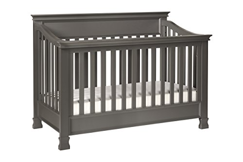 Classic Foothill 4-in-1 Convertible Crib with Toddler Bed Conversion Kit, Manor Grey ()