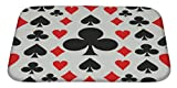 Gear New Poker Pattern Bath Rug Mat No Slip Microfiber Memory Foam