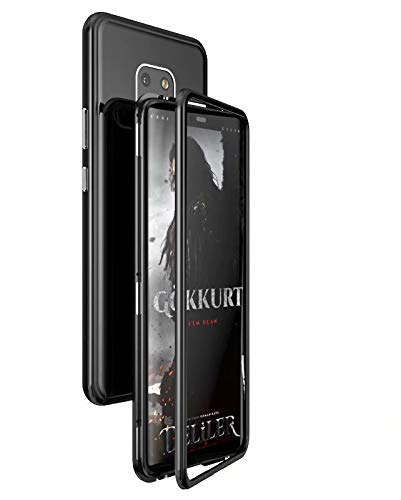 Funda Huawei Mate 20 Pro Adsorción Magnética Slim Vidrio Templado PC Duro Cover 360 Grados Marco Metal Protection Anti-rasguños Carcasa para Mate 20 ...