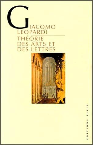 Livres Théorie des arts et des lettres pdf, epub ebook