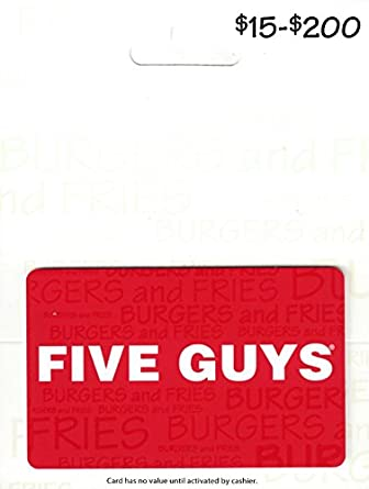 Amazon Five Guys Gift Card 50 Gift Cards
