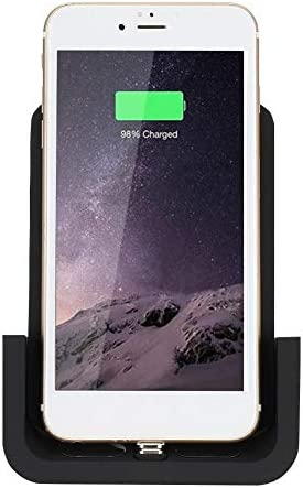 ギャラクシーS9/S9 +/S8/S8 +用のiPhone Xs max/XR/X/8/8 +用ユニバーサル多機能マウントワイヤレス充電器通気電話マウントQi高速充電器(黒)