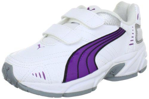 Puma Xenon Trainer V Jr - Zapatillas de gimnasia infantil Blanco (Weiß (white-bright violet-black-silver metallic 08))