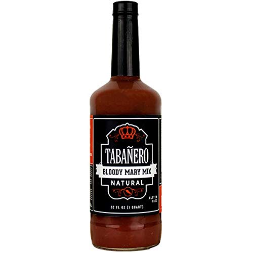 Tabañero Bloody Mary Mix, All Natural, Gluten Free, 32oz. Bottle (Best Commercial Bloody Mary Mix)
