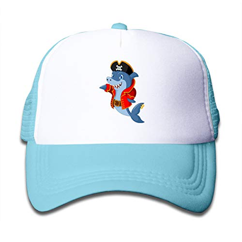 VOLODYM1970 Boys and Girls Baseball Cap Cute Shark Cartoon Mesh Adjustable Hip Hop Kids' Trucker ()