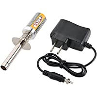 Goolsky HSP Nitro Starter Kit Glow Plug Igniter with Battery Charger for HSP RedCat Nitro Powered 1/8 1/10 RC Car