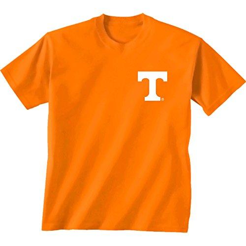 New World Graphics NCAA Tennessee Volunteers Team Madras Short Sleeve, Cc Tenn Orange, Large
