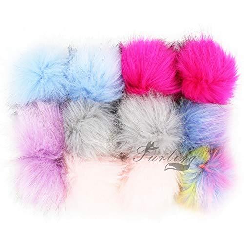 e04798c28 Key Chains - Furling 12pcs Pom Poms DIY Wholesale 10cm Soft Faux Fox Fur  Pom Pom Ball for Knitting Hat Accessories Keychain Accessory - by Mct12-1  PCs