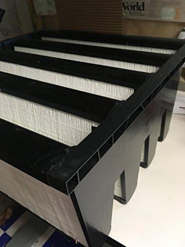 "Filtration Group 40046-P FP 4V Mini-Pleat Air Filter, Wet Laid Micro-Fiberglass, Yellow/White, 15 MERV, 193 square feet of media, 24"" Height x 24"" Width x 12"" Depth (Case of 1)"
