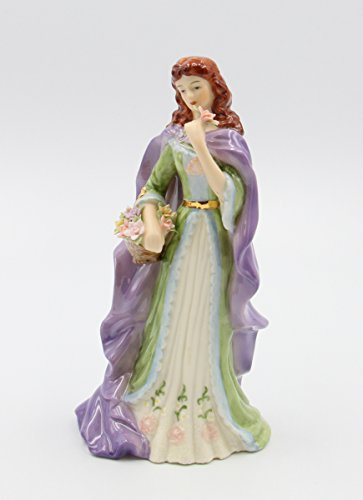 Cosmos Gifts Fine Elegant Porcelain Irish Rose of Tralee Lady with Rose Figurine, 8