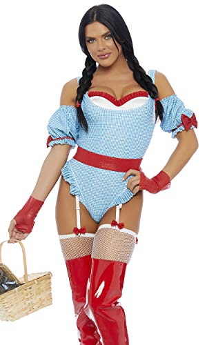 Forplay Women's No Place Like Home Sexy Movie Character Costume, Blue, M/L ()