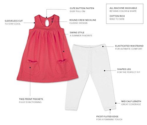 85c99970b61a Amazon.com  Country Kids Little Girls  Cotton Sleeveless Sun Dress Pockets  Leggings 2 Piece Set