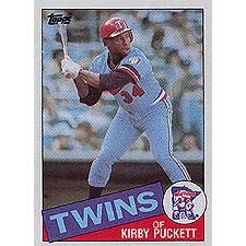 Kirby Puckett 1985 Topps Baseball NM/Mint Rookie Card #536 Shipped in Protective Screw Down (1985 Kirby Puckett Rookie Card)