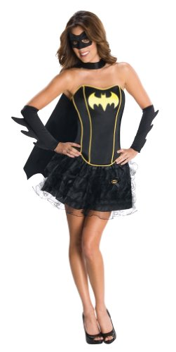 Secret Wishes DC Comics Batgirl Corset And Tutu Costume, Black, ()