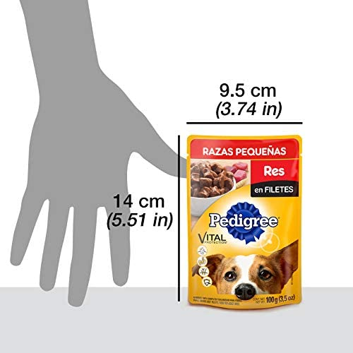Pedigree Alimento Húmedo Razas Pequeñas Res en Filetes, paquete de 10 sobres 6