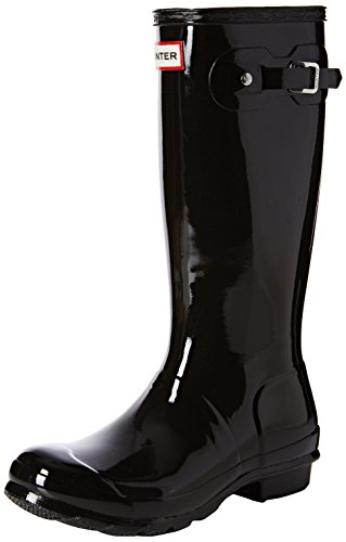 New Hunter Boot USA Original Kids Gloss Black 4 Youths Boots