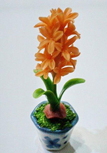 Dollhouse Miniatures Handmade Clay Flower Plant Pot Garden Supply Home Decor # 007
