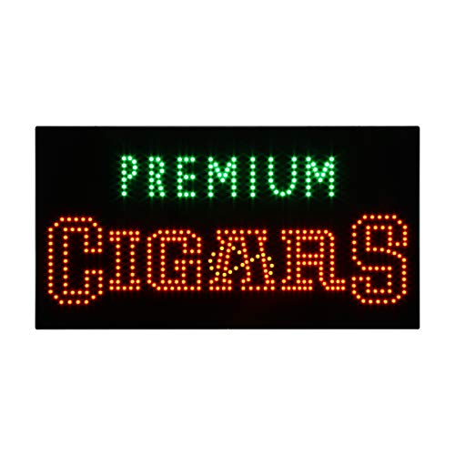 (LED Cigars Shop Open Light Sign Super Bright Electric Advertising Display Board for Hookahs Bar Pipes Tobacco Smoking Electronic Cigarette Business Shop Store Window Bedroom 24 x 12 inches)