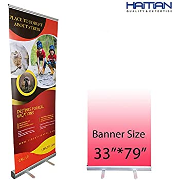 Amazon Com Signworld 33 Retractable Roll Up Banner Stand Display