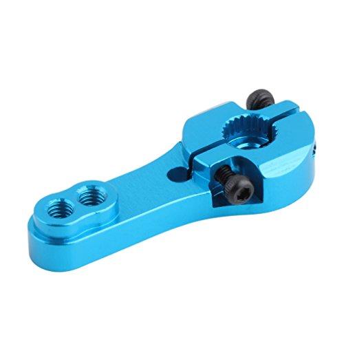 (New CNC Aluminum Servo Horn Arm 25T for Futaba Standard Servos 25T Blue Remote Control Toys Parts & Servo Accessories)