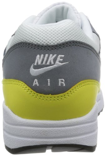 Nike Air Max 1 Premium, Green, Sneakers a Collo Basso da Uomo Bianco (Weiß (White/Geyser Grey-lab Green))