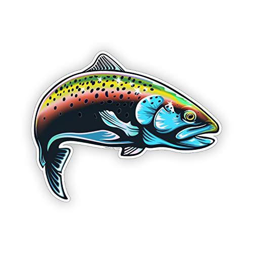 Rainbow Trout Fish Sticker Tumbler Cup Cooler Laptop Window Bumper Decal