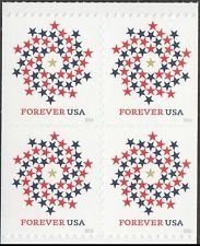 USA Patriotic Spiral USPS Forever First Class Postage Stamp U.S. Liberty Sheets ( 20 Stamps) (2 Strips of 10 stamps)
