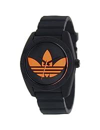Adidas Men's Santiago ADH2880 Black Silicone Quartz Watch with Black Dial