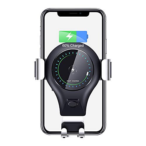 Wireless Car Charger, 10W Fast Charging Car Phone Mount Air Vent Phone Holder Compatible with Phone Xs/Xs Max/XR/X/ 8/8 Plus, Samsung Galaxy Note 9/ S9/ S9+/ S8/ S8+