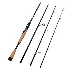 Fiblink 4-Piece Spinning Rod Medium Carbon Spinning Fishing Rod Portable Fishing Rod 6'6'' Spinning Rod  Length: 6'6''  Pieces: 4 Guides: 7+1  Action: Fast  Power: Medium  Line weight: 8-14 lbs  Lure weight: 1/4-5/8oz  Rod Material: Carbon  H...