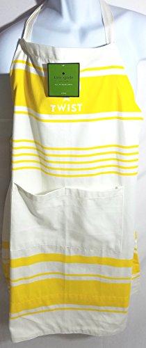 Kate Spade New York Diner Stripe Apron, With a Twist, Daffodil Yellow (Stripe Ties Twist)