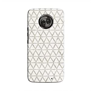 Cover It Up - Triangle Print Grey Moto X4 Hard Case