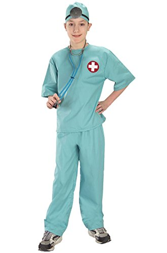 [Mememall Fashion Doctor Surgical Scrubs Child Costume] (Legend Of Sleepy Hollow Costumes)