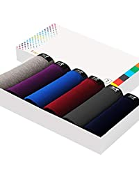 Men's Underwear Modal U Convex Waist Waist Breathable Sweat-Absorbent Men's Underwear 6 Gift Box,XXL