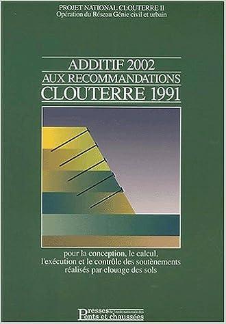 recommandations clouterre 1991