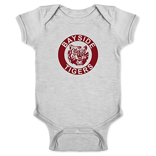 Bayside High School Tigers 90s Retro Clothes Gray 6M Infant Bodysuit ()