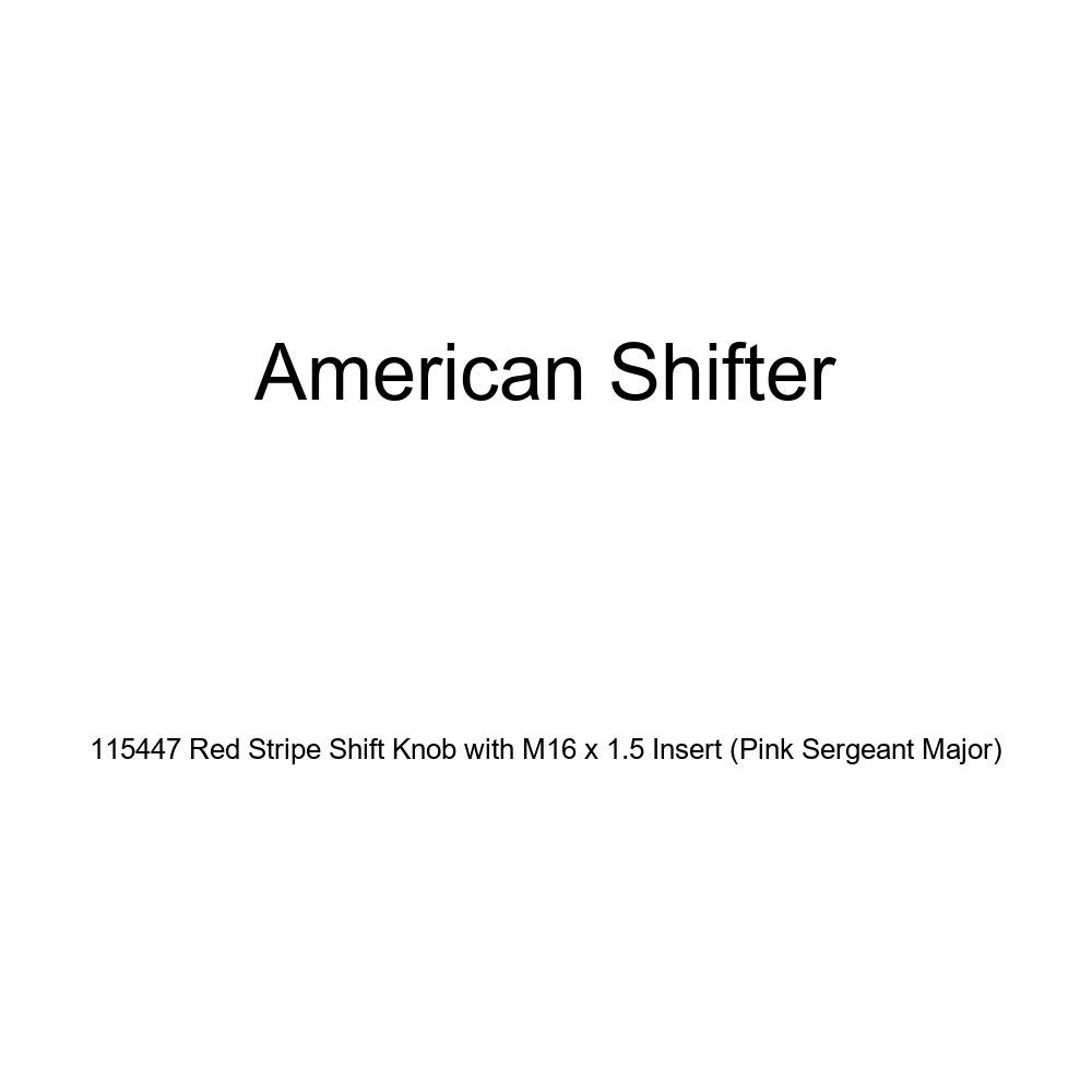 American Shifter 115447 Red Stripe Shift Knob with M16 x 1.5 Insert Pink Sergeant Major