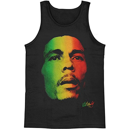 (Bob Marley Men's Rasta Face Mens Tank Medium Black)