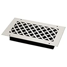 SteelCrest BTU12X6SWHH Bronze Series Designer Wall/Ceiling Vent Cover, with Air-Volume Damper, and Mounting Screws, White