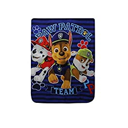 Boys Disney Paw Patrol Fleece Blanket, Kids Disney Paw Patrol Blanket Throw blue