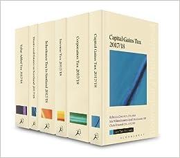 Book Scottish Core Tax Annuals 2017/18 Set