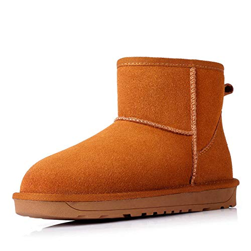 Stivali da Slip Heel Flat Pelle l'inverno l'inverno l'inverno Plus Neve Addensare da   2e0b81