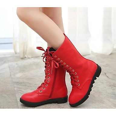 CN39 RTRY UK6 Fashion Women'S Casual Snow Flat EU39 Nappa Ankle White Booties Boots Leather Boots Black Winter US8 Boots For Shoes Red Heel Boots Pu gSrcWgq