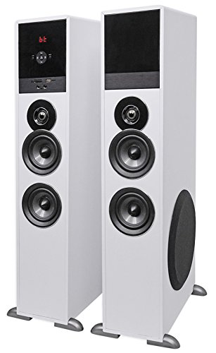 Tower Speaker Home Theater System+8'' Sub For Sony X900FED Television TV-White by Rockville (Image #1)