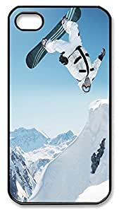 iPhone 4 4S Case Snowboard Snow Best PC Custom iPhone 4 4S Case Cover Black by ruishername