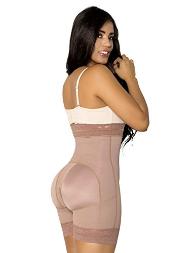 547b721554cc3 Lady Slim Fajas Colombianas Bodysuit Levanta Cola Buttock Lift Body Shaper  Powernet Postpartum (XL)