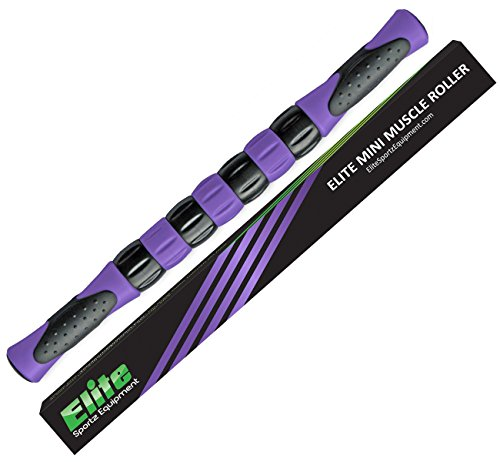 (Elite Massage Roller Stick Targets Sore, Tight Leg Muscles to Prevent Cramps and Release Tension. It's Sturdy, Lightweight, Smooth Rolling and Thankfully This Lifesaver has Comfortable Handles.Purple)
