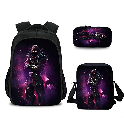 Assault Pressure Suit - Anzhuzhen Laptop Backpack, For-tnite with Satchel Pencil Case Casual Outdoor Travel Daypack for Mens Womens Girls Kids Boys, Rucksack Fits up to 15.6 inch Computer