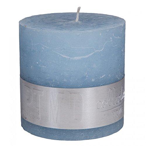 6.8x6.8x8 cm Rustic Aqua Pillar Candle Paraffin Wax