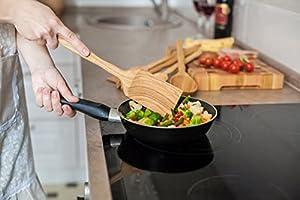 Utensil Set. Wooden Cute Kitchen Utensils Set. Kitchen Supplies & Utensils Big Set of 5